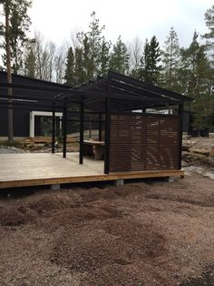 Outdoor Spaces, Outdoor Living, House In The Woods, Future House, Bungalow, Pergola, Shed, Deck, Outdoor Structures