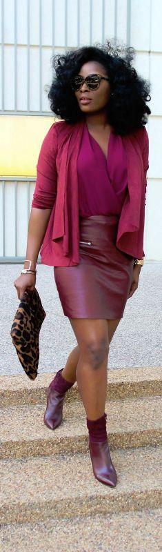 Burgundy Monotone Vibes / Fashion By Irony Of Ashi
