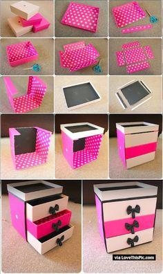DIY Box Organizer diy craft crafts diy ideas diy crafts how to tutorial organization organizing tutorials jewelry organization