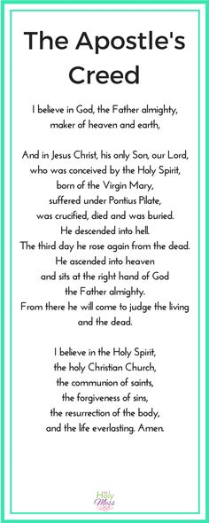 The Apostle's Creed is not in the Bible, yet it is used in many churches every Sunday. Why do we say the Apostle's Creed and what is the benefit to Christians? Bible Prayers, Bible Scriptures, Catholic Prayers Daily, Angel Prayers, Healing Scriptures, Scripture Quotes, Faith Prayer, Faith In God, Today's Prayer