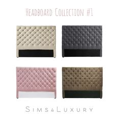 Sims4Luxury: Headboard Collection #1