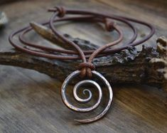 earth and animal friendly by UnicornVibration on Etsy Leather Jewelry, Wire Jewelry, Body Jewelry, Silver Jewelry, Jewelry Necklaces, Wiccan, Witchcraft, Ethnic Jewelry, Leather Tooling