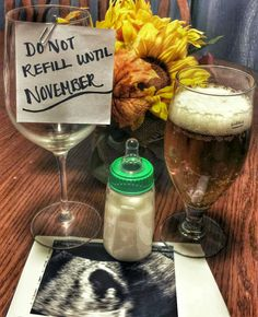 Wine lovers pregnancy announcement