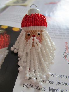 Father Christmas Bauble by Beadwork by Sian