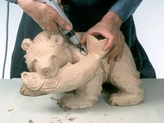 Wood carving bear Hand-craft HCT-30A