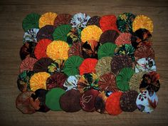 """Yoyos, 50 Handmade 2"""" Cotton Fabric, Autumn/Fall Prints & Solid Colors, Ornaments, Hair Accessories, Home Decor, Pillows, Scrapbooks, Quilts by YoyosAndMoreByJill on Etsy"""