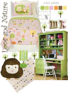 Owl Bedroom.  Blog has TONS of ideas on decorating bedrooms
