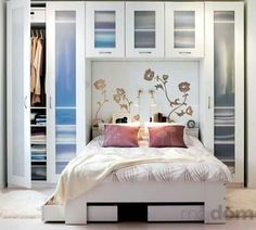 Trendy Bedroom Storage Ideas For Small Spaces Closet Murphy Beds Small Bedroom Storage, Modern Master Bedroom, Master Bedroom Makeover, Bed Storage, Trendy Bedroom, Hidden Storage, Closet Ideas For Small Spaces Bedroom, Diy Storage Ideas For Small Bedrooms, Storage Cart