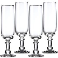Amazon.com: Dansk Crystal Suvi Flute Champagnes Set(s) Of 4: Tableware: Kitchen & Dining