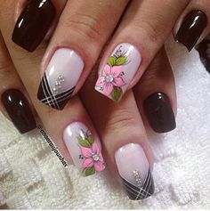 Fancy Nails, Cute Nails, Pretty Nails, Pink Nails, Spring Nail Art, Nail Designs Spring, Nail Art Designs, Joy Nails, Tribal Nails