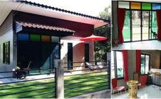 """พาไปชม """"บ้านโมเดิร์นลอฟท์ชั้นเดียว"""" บ้านหลังน้อยแต่ดีไซน์เรียบโก้ สร้างด้วยงบ 400,000 บาท Thai House, Loft House, Modern Loft, Deck Design, Terrace, Building, Balcony, Outdoor Decor, Gardening"""