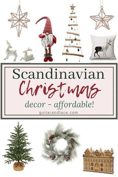 Scandinavian Christmas Decor – Guitar & Lace – The Best DIY Outdoor Christmas Decor Danish Christmas, Scandi Christmas, Minimalist Christmas, Christmas Fireplace, Woodland Christmas, Christmas Trees, Christmas Candles, Modern Christmas, Country Christmas