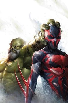 Maestro Hulk vs Spider-Man 2099