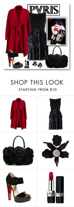 """""""J'aime Paris à l'automne"""" by romaboots-1 ❤ liked on Polyvore featuring Donna Karan, Ohne Titel, Lele Sadoughi, Christian Louboutin and Christian Dior"""