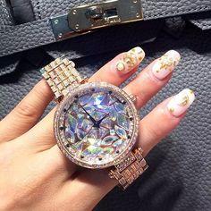 2017 new style! Top Quality Women Watches Luxury Steel Full Rhinestone Wristwatch Lady Crystal Dress Watches Female Quartz Watch