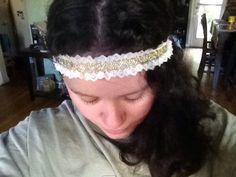 Lace headband vintage inspired