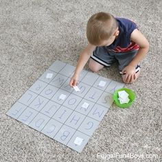 Four Simple Alphabet Games for Preschoolers - Frugal Fun For Boys and Girls Toddler Learning Activities, Preschool Literacy, Preschool Education, Preschool At Home, Literacy Skills, Preschool Worksheets, Learning Centers, Learning Spanish, Teaching Resources