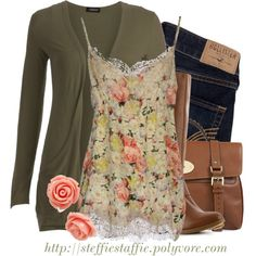 """""""Yellow & Coral Florals"""" by steffiestaffie on Polyvore"""