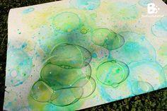 Malen mit Seifenblasen