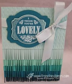Stamp & Scrap with Frenchie: Ombre in the Blues with Fringe scissors, Blog Candy