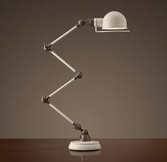 Atelier Scissor Task Table Lamp White Enamel