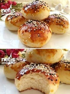 How to make yogurt donut (Extraordinarily Soft And Very Tasty) Recipe . Greek Cooking, Cooking Time, Dinner Rolls Easy, Delicious Desserts, Yummy Food, Turkish Kitchen, Recipe Mix, Tasty Recipe, Turkish Recipes