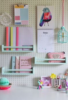 Organize your home office with this easy + pretty hack.