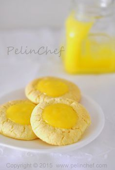 PelinChef: Lemon Curd Cookie LİMON KREMALI LİMONLU KURABİYE