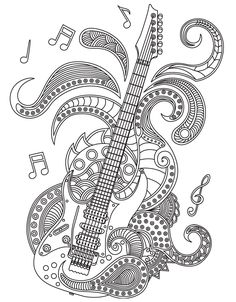 330 best Music Coloring Pages for Adults images on