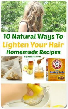 10 Ways to Lighten Hair Using Natural Ingredients. Learn how to make your hair lighter with lemon juice without sun.