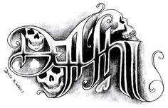death/life ambigram