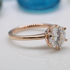 Juliette Forever One Moissanite 6 Claw Prong by FireandBrilliance