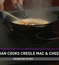 Kristian Kiemi shows how to make creole mac & cheese.