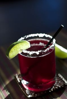 Berrylicious Margarita 2 oz framboise liqueur 5 oz cranberry juice 3 oz blanco or sliver tequila 1 tbsp fresh lime juice wedge of lime margarita salt Rub rims of two lowball glasses with a wedge of...
