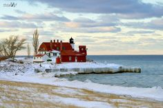 Winter at Point Betsie Lighthouse