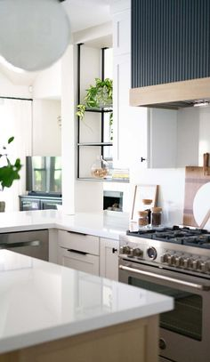 One Room Challenge Week 8 - The Kitchen Reveal — Glynis Steider Microwave Vent Hood, Upper Cabinets, Kitchen Cabinets, Counter Stools, Bar Stools, Hale Navy, Oak Stain, Challenge Week, Cabinet Knobs