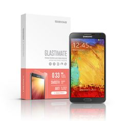 SIEGE - Glastimate Premium Tempered Glass Screen Protector for Samsung Galaxy Note 3