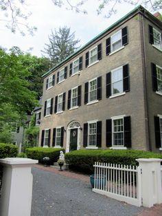 Federal house, once home to Mary Saltonstall Parker (1856-1920). Chestnut Street, Salem, Massachusetts.
