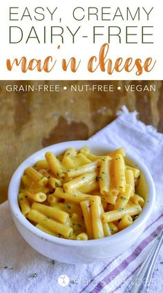 Dairy-free? Vegan? Missing mac 'n cheese? This Easy, Creamy Dairy-Free Macaroni and Cheese is what you need! It's so good, you'll cry...