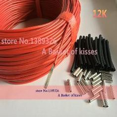 [ $18 OFF ] Infrared Underfloor Heating Floor Heating Cable System Of 3Mm Carbon Fiber Wire Electric Floor Hotline Infrared Heating Cable