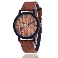 2625ff04c50 Dámské i pánské unisex moderní hodinky s motivem dřeva – hnědý pásek –  SLEVA 50 %