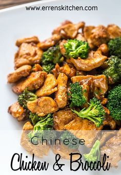 This stir-fry recipe is quick easy and on the table in less than 30 minutes - what more could you ask for ErrensKitchen chickenrecipes dinner dinnerrecipes dinnerideas DinnerRecipe quickandeasy quickandeasydinneridea simplerecipes dinnertime broccoli # Authentic Chinese Recipes, Easy Chinese Recipes, Easy Recipes, Light Recipes, Recipe For Chinese Chicken And Broccoli, Broccoli Chicken, Chinese Food Recipes Chicken, Healthy Chinese Food, Healthy Teriyaki Chicken