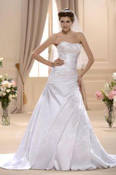 TBDress - TBDress A-line/Princess Sweetheart Chapel Bridal Gown - AdoreWe.com