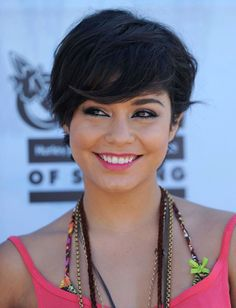 Vanessa Hudgens Short Straight Cut - Short Hairstyles Lookbook - StyleBistro