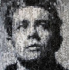 Celebrity Portraits created using Buttons
