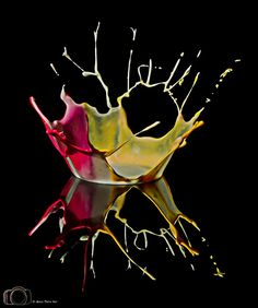 Vibrant liquid macro photography by Michael Suppan    Gorgeous captures of a fleeting, fluid moment in time.  Reminiscent of Harold Edgerton's iconic Milk Drop Coronet, perhaps the most perfect fluid dynamics photo ever taken.