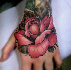 Roses on the hands - 45+ Eye-Catching Tattoos on Hand