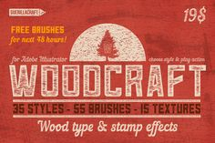 Woodcraft for Adobe Illustrator by Guerillacraft on Creative Market