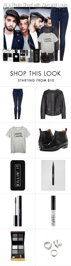 """""""Requested Set (@rainbowswag) & At a Photo Shoot with Zayn and Louis"""" by elise-22 ❤ liked on Polyvore featuring Topshop, Coucou, Frye, LG, Stila, shu uemura, NARS Cosmetics, Tom Ford and Butter London"""