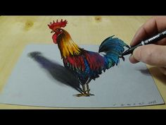 Art in 3D - Drawing a Hunting Eagle - Awesome 3D Animals - YouTube